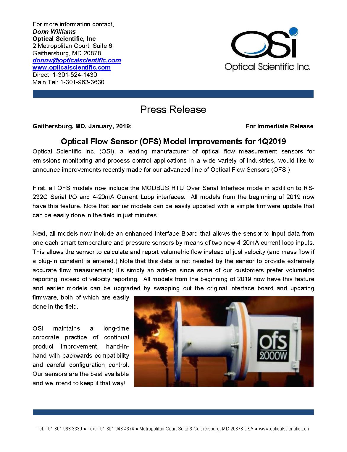 2019 Press Release